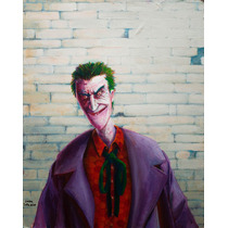 Otra Broma Sobre La Pared, Pintura Del Joker/guason 37,5x30c