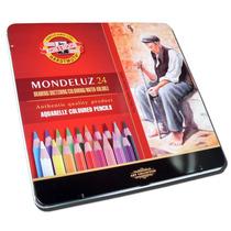 Lapices Color Koh-i-noor Mondeluz Acuarelables X 24