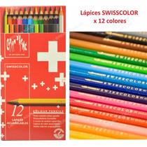 Caja 12 Lápices Acuarelables Caran Dache Swisscolour Suiza