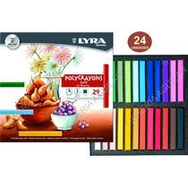 Tizas Pastel X 24 Polycrayons Lyra Cuadradas Compactas