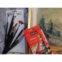 Caja 12 Colores Pinturas Óleo Para Artística.