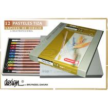 Caja 12 Lapices Pastel A La Tiza Bruynzeel Design Holanda