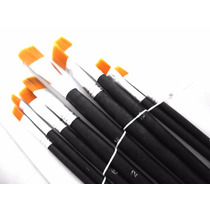Pinceles Artisticos X9 Unidades Para Pintar C/ Oleo Dibujar