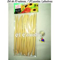 Set Estecas Plásticas X 10 Unidades ( 20 Puntas ) Cap Fed