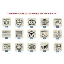 Estenciles Vintage 30x30 Combo X 6 Unidades A Eleccion