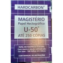 Papel Hectografico Marca Magisterio U50 - Valor Por Hoja