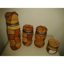 Set Matero Termo 1 L O 1/2 Litro Forrado Artesanal En Cuero
