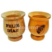 Mate De Madera Algarrobo Grabado Laser Souvenir