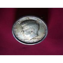Moneda Half Dollar -moneda 1/2 Dolar Engarzada Con Prendedor