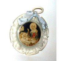 Antigua Medalla Virgen Maria Y Jesus-veala-en La Plata