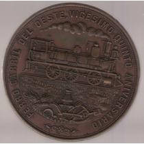 Medalla Ferrocarril Inauguracion Linea Pergamino 1882 Exc
