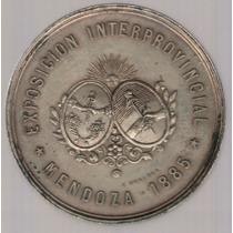 Medalla Ferrocarril Andino Mendoza 1885 Exc+