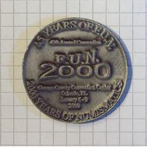 Medalla 2000 Años De Numismaticos Convencion Orlando 2000