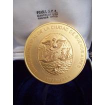 Antigua Medalla Banco Ciudad De Buenos Aires 1878 1968