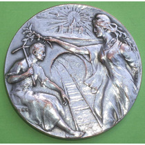 Antigua Medalla Inaug Trab. Red Subterranea Tramway 1910 Jml