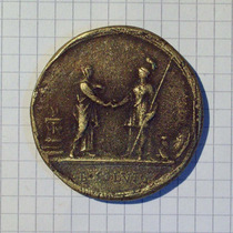 Medalla Europea Muy Antigua Ioan Nelious 44,6 Gr. 47 Mm