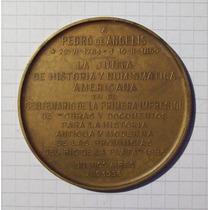 Medalla Junta Historia Y Numismatica Americana Pedro De Ange