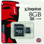 Memoria Micro Sd Kingston 8gb Clase 10 Hd Registrables!