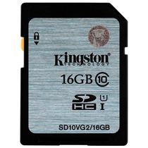 Memoria Sd Hc 16gb Kingston Clase 10 Full Hd Sdhc U1 45mb/s