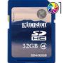 Tarjeta Memoria Kingston Sdhc Sd Hc 32gb Clase 4 Gtia 5 Años