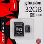 Memoria Micro Sd Tarjeta 32 Gb Kingston Celular Adaptador