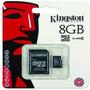 Memoria Micro Sd Sdhc Kingston 8 Gb Clase 10 Original