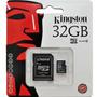 Memoria Micro Sd 32 Gb Hc Clase 4 Adaptador Sd Kingston Gtía