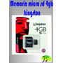 Memorias Micro Sd 4gb Kinston