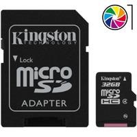 Tarjeta/memoria Kingston Microsdhc/micro Sd Hc+adap Sd 32gb