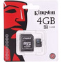 Memoria Micro Sd 4gb Hd Kingston Smartphone Card Mer Envio