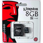 Micro Sd 8gb Clase 4 Kingston Original Merc Envio