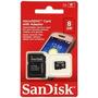Tarjeta De Memoria Microsd + Adaptador Sandisk 8gb Clase 4