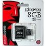 Momoria Micro Sd + Adaptador Kingston 8gb C4 X Mayor 25 Unid