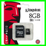 Memoria Kingston Micro Sd 8gb Clase 10 + Adaptador Centro