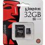 Memoria Micro Sd 32 Gb Kingston-blister Cerrado-full-clase 4
