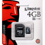 Memoria Micro Sd 4gb Kingston Sellado 100% Nuevo