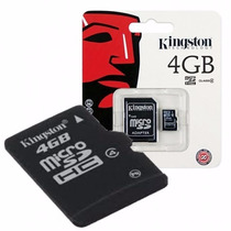 Kingston Memoria Microsd 4gb Celular Camara Gps Clase 4