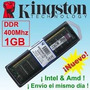 Memorias Kingston Ddr 1gb 400 Mhz Nueva Blister