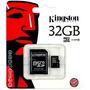 Memoria Micro Sd 32gb Clase 10 Hc Kingston Lg Samsung Sony
