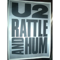 U2 Rattle And Hum Calco Negra Gris En La Plata