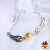 Pulsera Snitch Dorada Quidditch Harry Potter // Libria Store