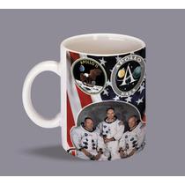 Apollo 11 Taza Retro Vintage Unica Heroes Del Espacio