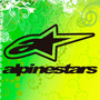 Sticker, Calco, Alpinestars, Autos, Notebooks, Compu, Etc