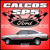 Calcos Ford Cupe Taunus Sp5 Calcomania Franja Ploteoya!