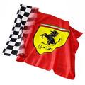Ferrari * Hermosas Banderas 150 X 75 Cm * Con Cintas P/atar