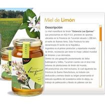 Miel Monofloral De Limón Premium X 500 Grs - Las Quinas