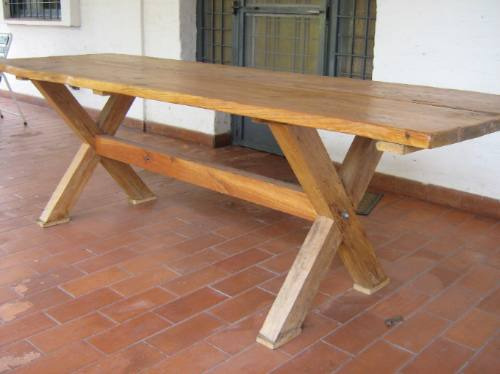 Pin mesa cocina extensible mesas edor edores genuardis - Mesas de madera para jardin ...