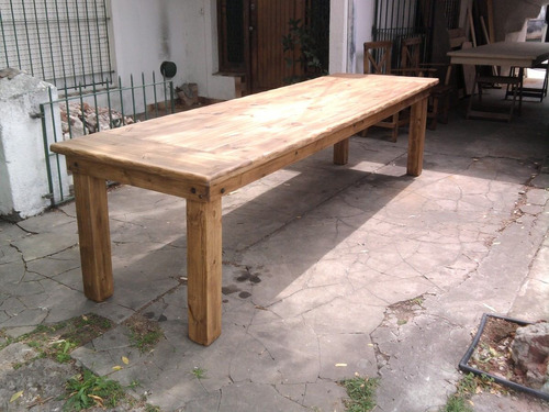 Mesa de quincho maciza estilo campo 300 x 120 fabricante - Mesas de campo ...