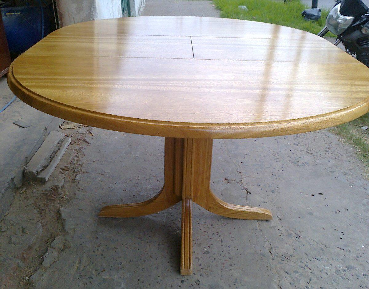 Mesa comedor redonda extensible pino mesas redondas for Mesas redondas para comedor