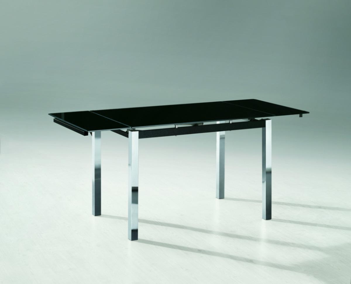 Mesa de vidrio extensible comedor trampa rectangular for Mesas de comedor rectangulares